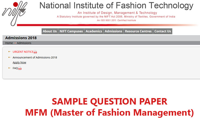 Nift Question Papers Archives Mix India
