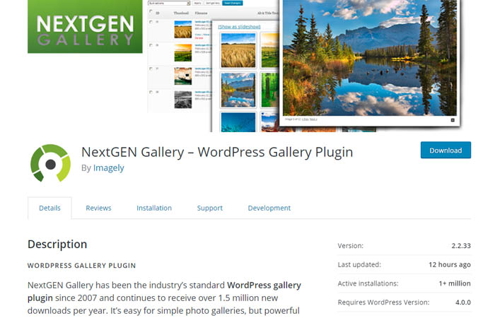 Best wordpress gallery plugin 2018 for Nextgen template editor