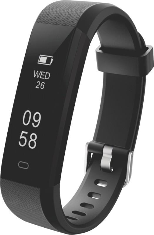Portronics POR-924 Yogg Plus Smart Fitness Wristband (Black)(Black Strap, Size : Medium)