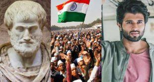 If Aristotle says aha, then poor Vijay Devarakonda says aha