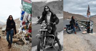 Malayalam superstar hits trip to Ladakh on bullet, pictures go viral