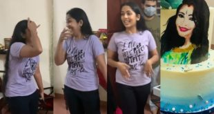 See the giant birthday present prepared by friends for Navya Nair