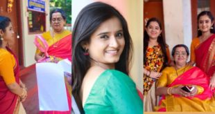 Anjali in consolation with special birthday wishes to Mallika Chechi