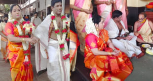 Series star Yamuna remarries;  The children witnessed the incident at the Mookambika temple;  Greetings and social media