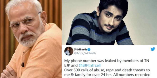 I will not remain silent, you will keep trying - Actor Siddharth warns Narendra Modi, Amit Shah, Malayalees with support