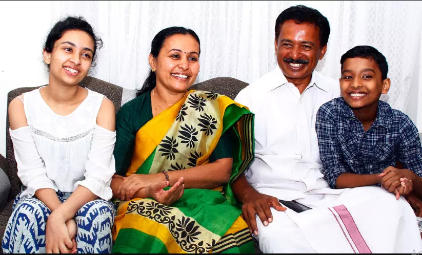 Veena George with Family